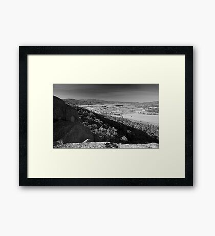 east from evans crown Framed Print