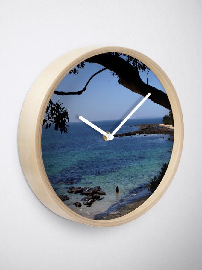 Alternative Ansicht von Das blaue Meer Uhr