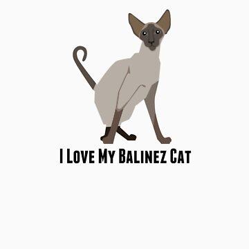 I Love My Balinez Cat by rodie9cooper6