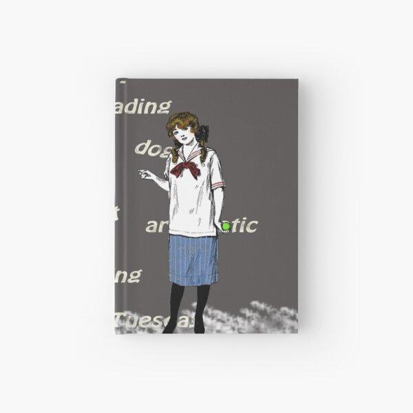 Retro School Girl Chalkboard Hardcover Journal