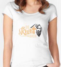 Jesus Tailliertes Rundhals-Shirt