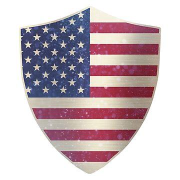 United States Flag Shield by ockshirts