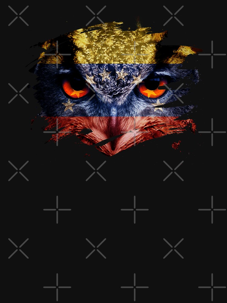 Venezuela Flag and Menacing Owl by ockshirts