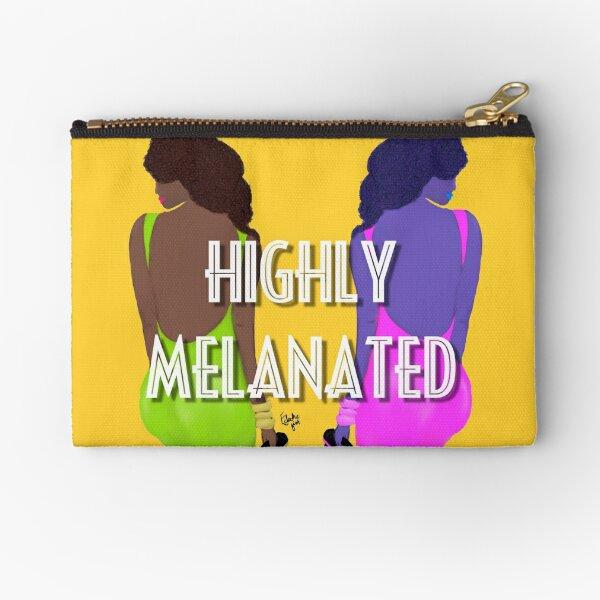Highly Melanated (B) Zipper Pouch