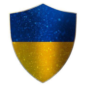 Ukraine Flag Shield by ockshirts