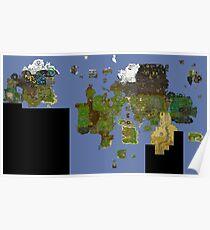 Póster OldSchool Runescape World Map