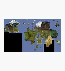 Lámina fotográfica OldSchool Runescape World Map