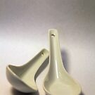 white china spoons by Hege Nolan