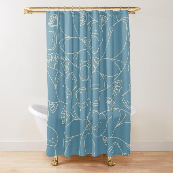 Minimalist Platypus Shower Curtain