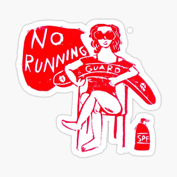 No Running Sticker