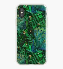 Peacocks in Teal Forest iPhone Case
