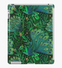 Peacocks in Teal Forest iPad Case/Skin