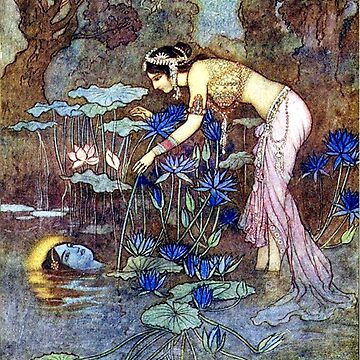 Sita Finds Rama Among the Lotus Blossoms - Warwick Goble by forgottenbeauty