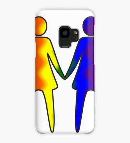 Wavy Rainbow Lesbian Couple #LGBT #Pride Case/Skin for Samsung Galaxy
