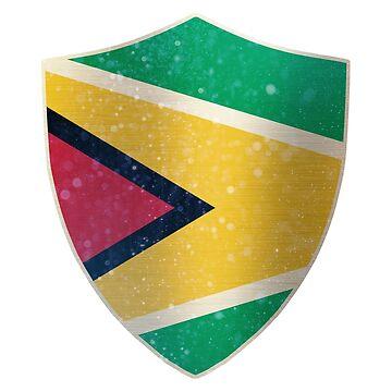 Guyana Flag Shield by ockshirts