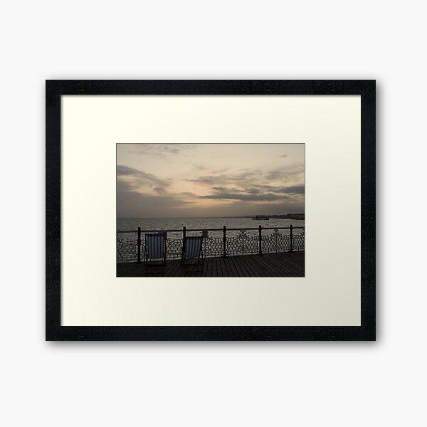 Evening on the Pier Framed Art Print