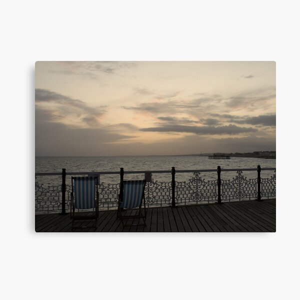 Evening on the Pier Canvas Print