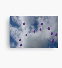 Purple Protest: Votes In The Sky Canvas Print