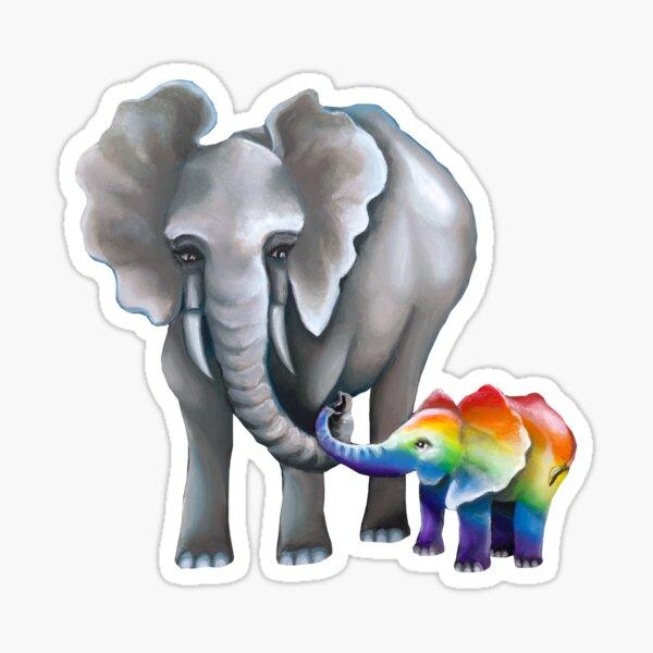 Elephant Love  Sticker