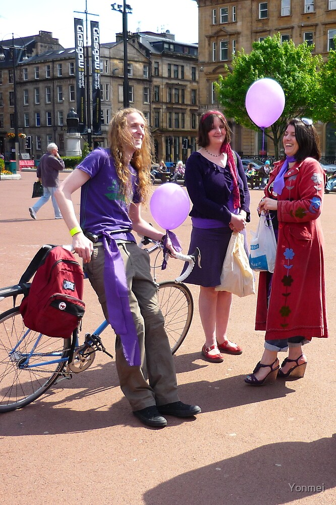 Purple Protest: Cycling for Democracy by Yonmei