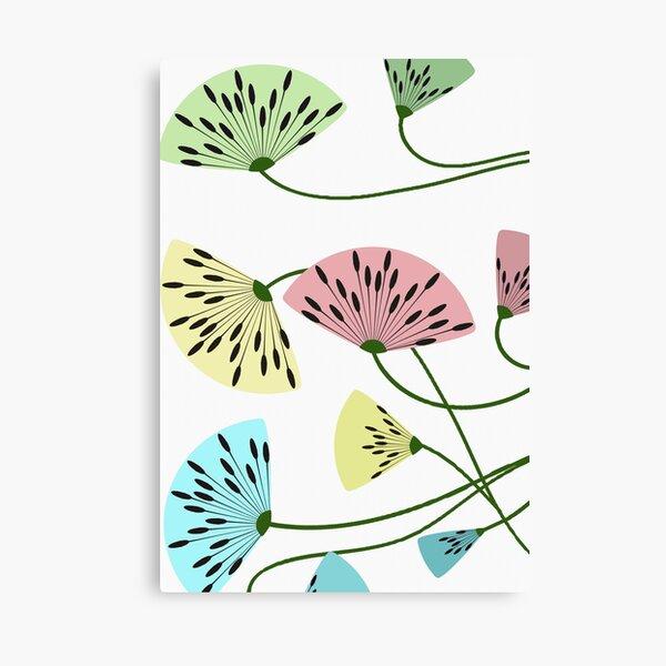 Dandyflowers - White Canvas Print