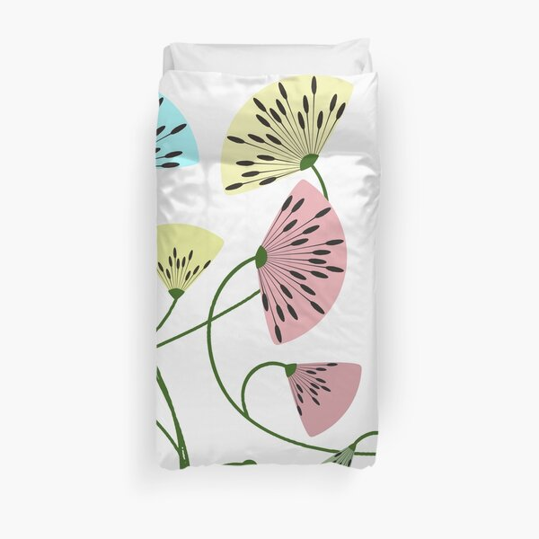 Dandyflowers - White Duvet Cover