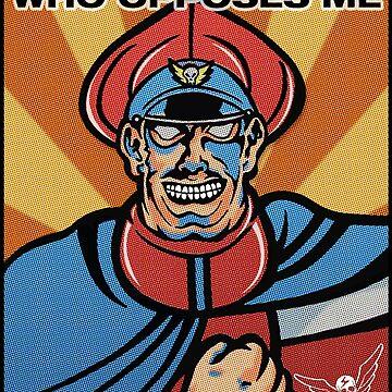 M. Bison Pop Art Street Fighter II by VirtuaRicky