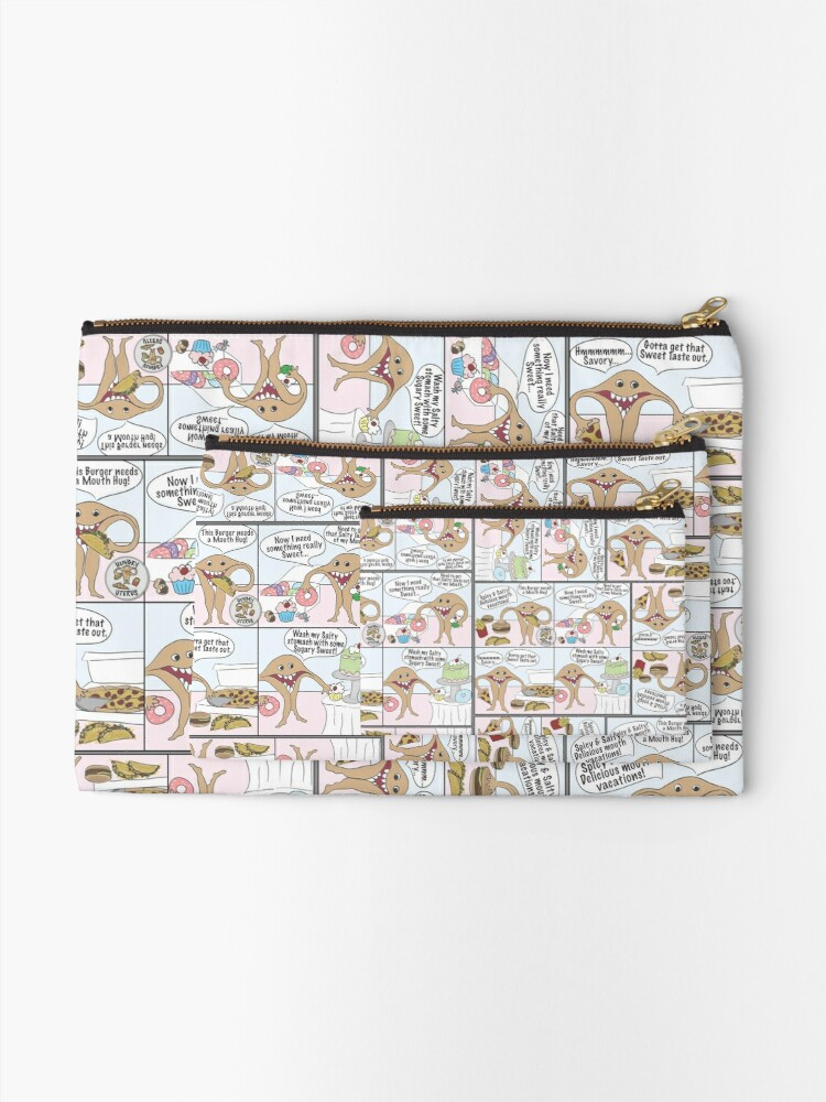 Alternate view of Hungry Uterus Comic Zipper Pouch
