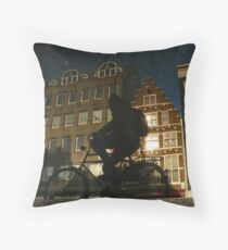 Reflections of Amsterdam - Shiney Throw Pillow