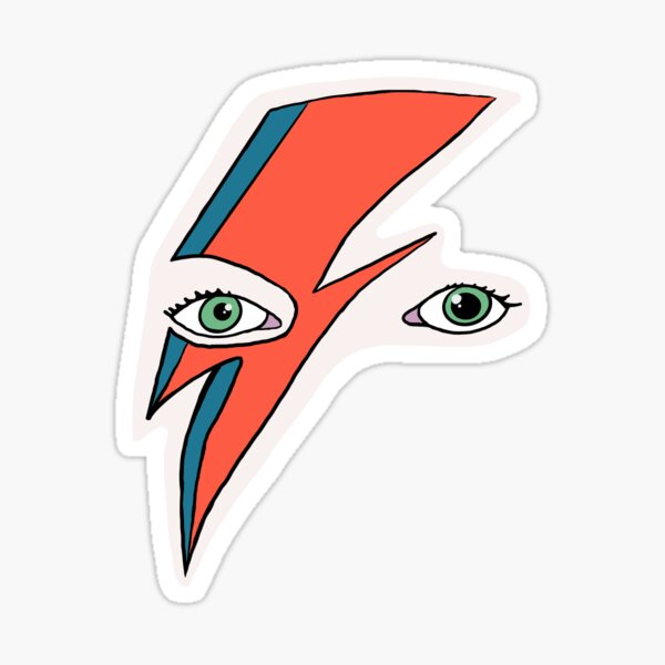 Bowie Illustration  Sticker
