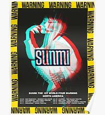 "Sunmi 1st World Tour ""Warnung"" Poster"