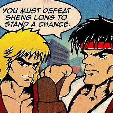 Street Fighter II Pop Art Ryu Ken Comic Shenglong by VirtuaRicky