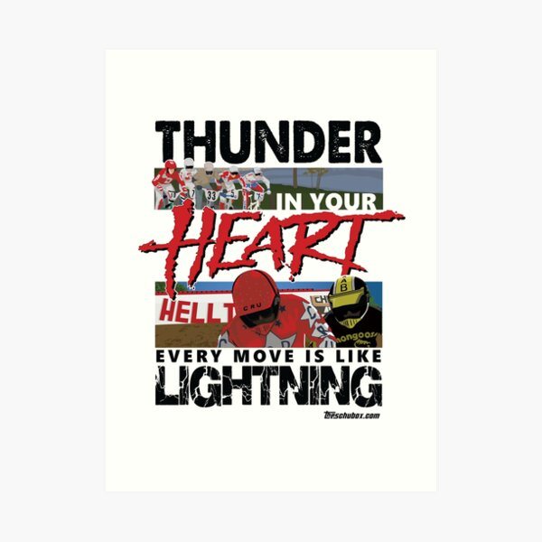 Thunder in your heart - RAD Art Print