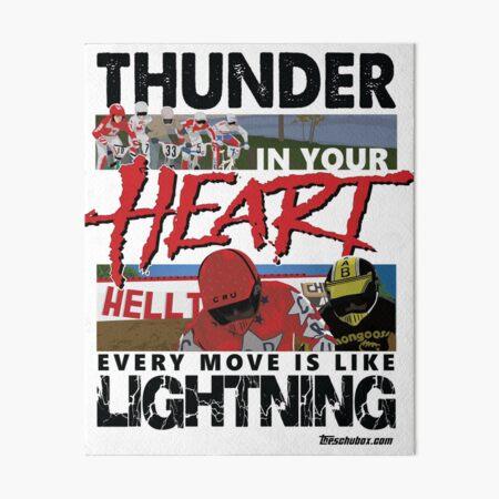 Thunder in your heart - RAD Art Board Print