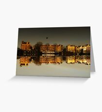 Reflections of Amsterdam - Golden City Greeting Card