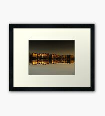 Reflections of Amsterdam - Morning Gold Framed Print