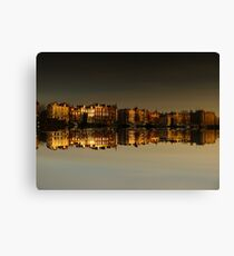 Reflections of Amsterdam - Morning Gold Canvas Print