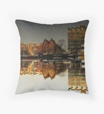 Reflections of Amsterdam - Administration Throw Pillow