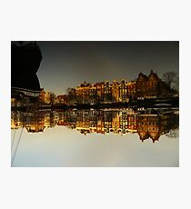 Reflections of Amsterdam - I love it Photographic Print