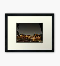 Reflections of Amsterdam - Waves Framed Print