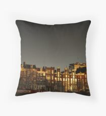 Reflections of Amsterdam - Waves Throw Pillow