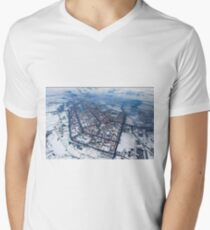 Norilsk,  Aerial Photography V-Neck T-Shirt