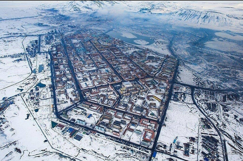 Norilsk,  Aerial Photography by znamenski