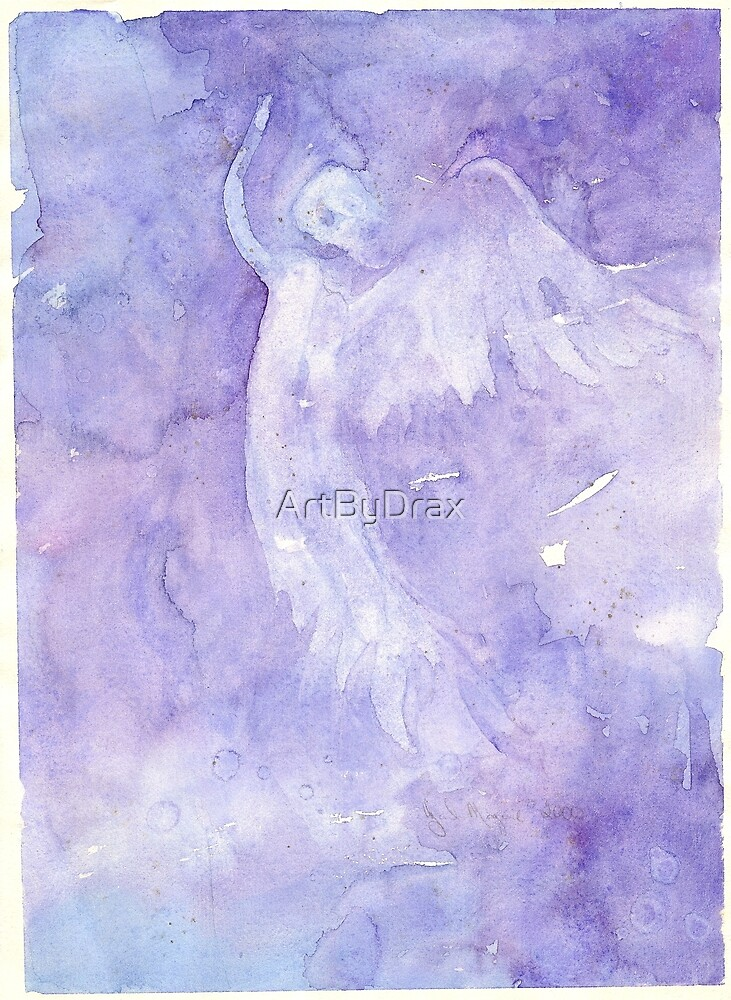 Angel Rising - Flowing Watercolor by ArtByDrax