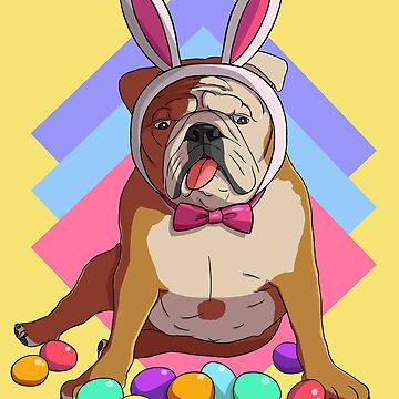 English Bulldog Easter Bunny Ears by Nosek1ng