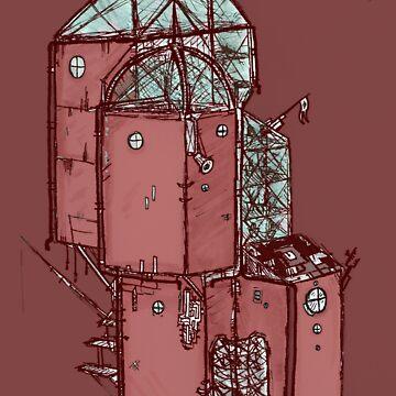City in the sky (colour) by Benlyksmonsters