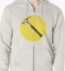 captain hammer symbol Zipped Hoodie