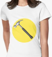 captain hammer symbol Women's Fitted T-Shirt