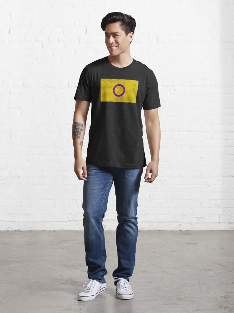 Alternate view of Distressed Intersex Pride Flag Essential T-Shirt