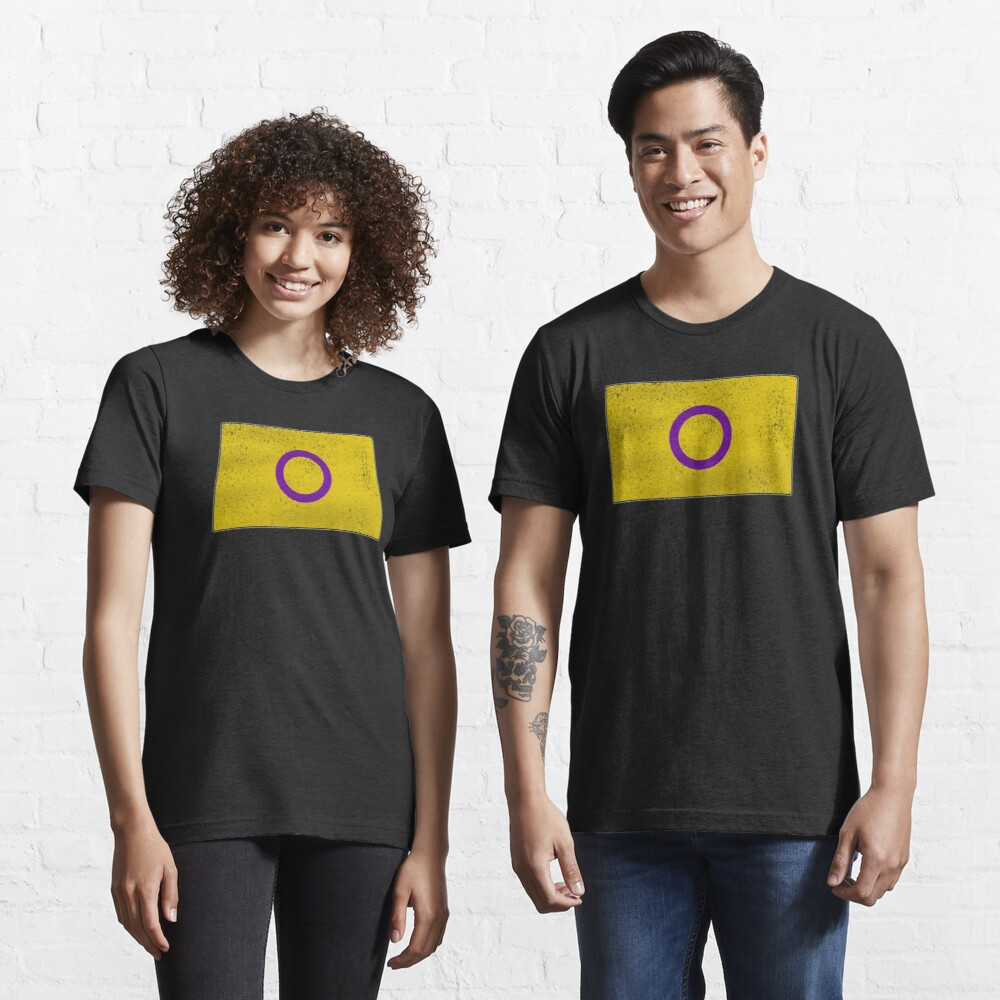Distressed Intersex Pride Flag Essential T-Shirt